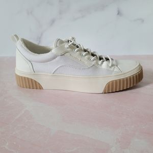 Michael kors fabric leather rubber sneaker